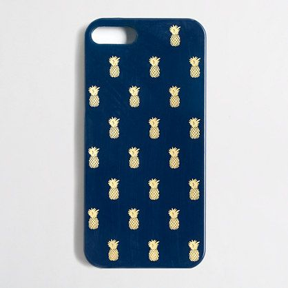 J.Crew Factory - Factory pineapple print phone case for iPhone 5 Valid until july 23rd- use promotion code EXTRA50 to get 50% of clearance
