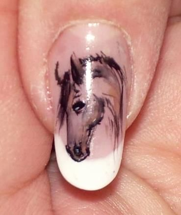 nails art horse themed. I really want to do this!