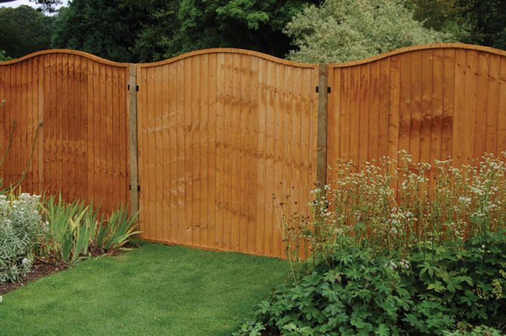 Backyard, Fence Panels to Protect and Enhance Your Garden Environment: Red Wooden Fence Panels