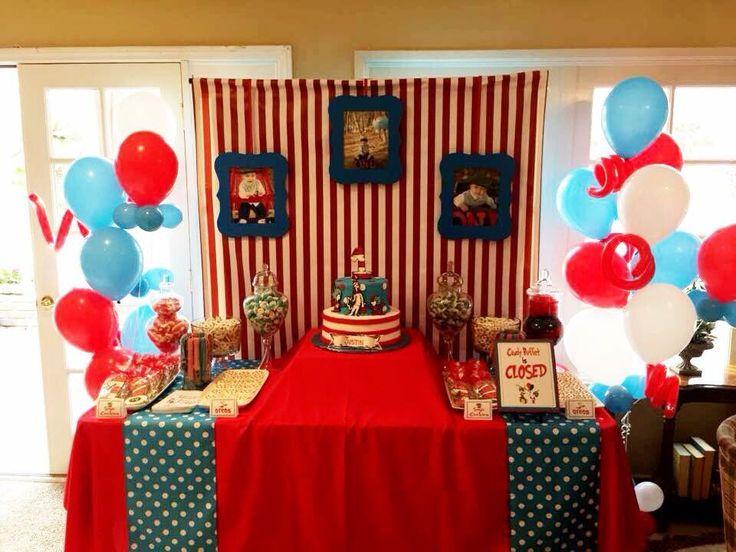 Dr. Seuss candy/dessert table. #firstbirthday #kidsbirthday #partydecor