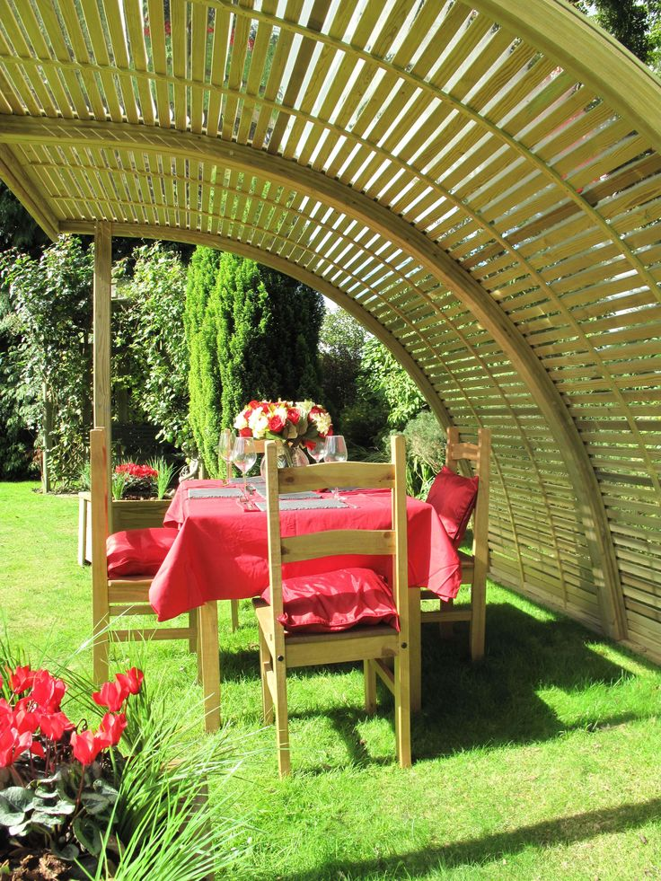 Jacksons Demi Curve   Two Curved Panels Joined Side By Side That Are  Supported By Sturdy · Corner GardenTimber HomesFence ...