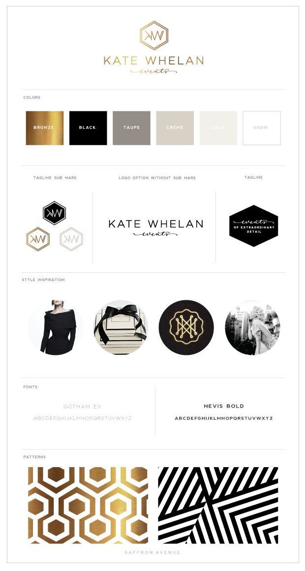 Logo and Website Design :: Kate Whelan Events - Saffron Avenue : Saffron Avenue