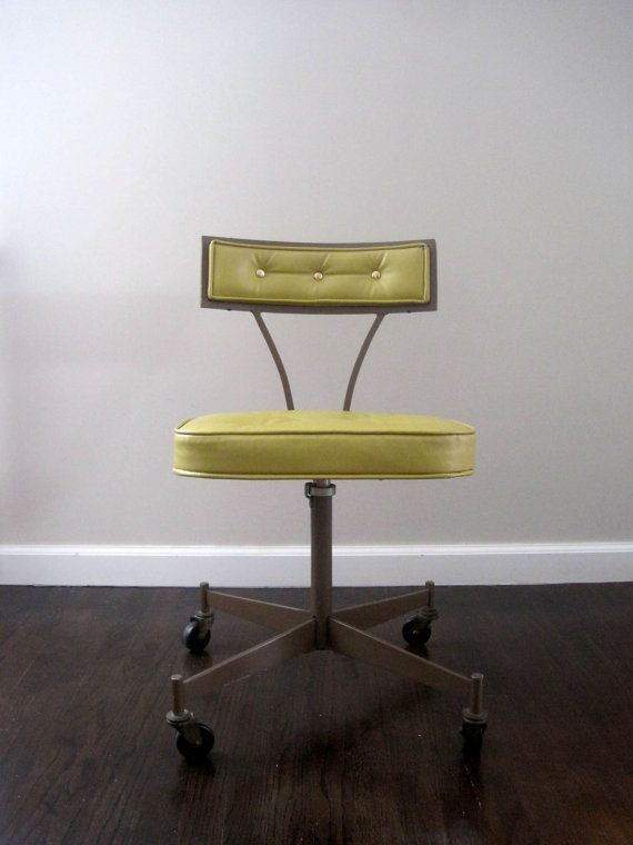 so pretty - Mid Century Modern 1950s Rolling Desk Chair