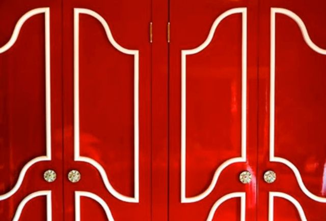 Adding color and molding to doors