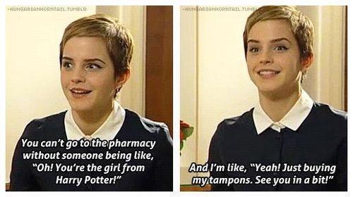 Ahahahaha Emma Watson!