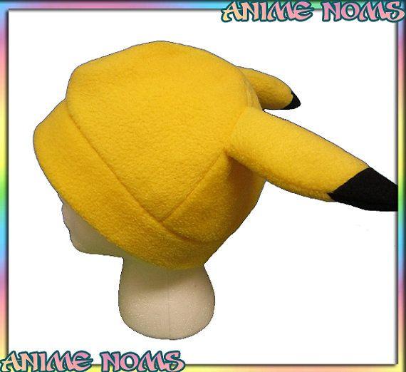 Simple Pikachu Fleece Hat  Fleece Beanie Anime Geek by AnimeNoms, $17.99