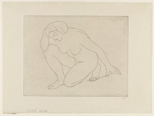 Aristide Maillol. Crouching Woman. Dec. 1927