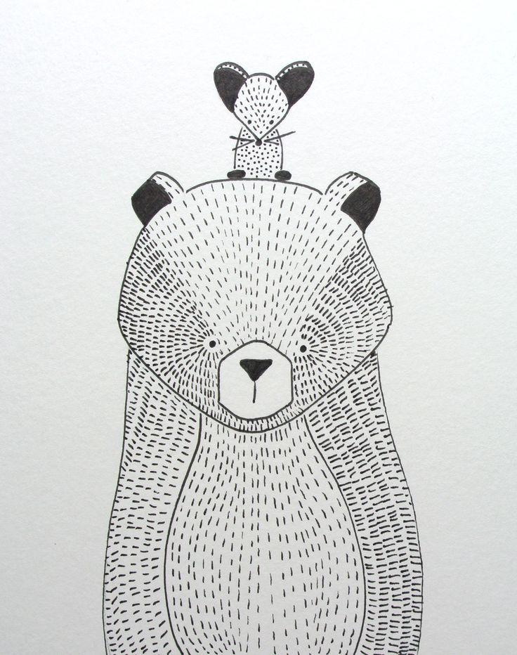 beer illustratie | bear illustration | kids room | kinderkamer http://www.kinderkamervintage.nl