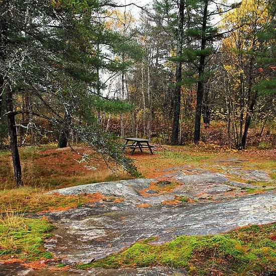 On The Rocks - French River Ontario Canada #picnic #art #photography #autumn #nature