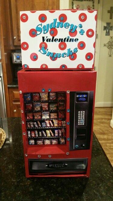 Valentines Box Vending Machine Diy Valentine S Mailbox