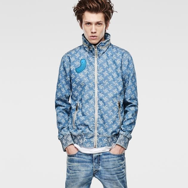 G star Raw For The Oceans - Fallden Des Bomber - made from the Oceans plastic soup