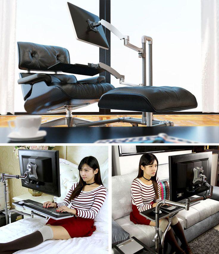 h henverstellbarer schreibtisch ergonomisch selber bauen pinterest. Black Bedroom Furniture Sets. Home Design Ideas