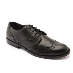 Black Leather Boys Lace-up School Shoes http://www.startriteshoes.com/school-shoes?p=4