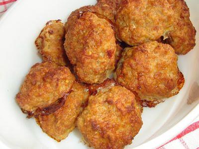 Fasírt sütőben sütve  (kenyér nélkül, zabpehellyel)