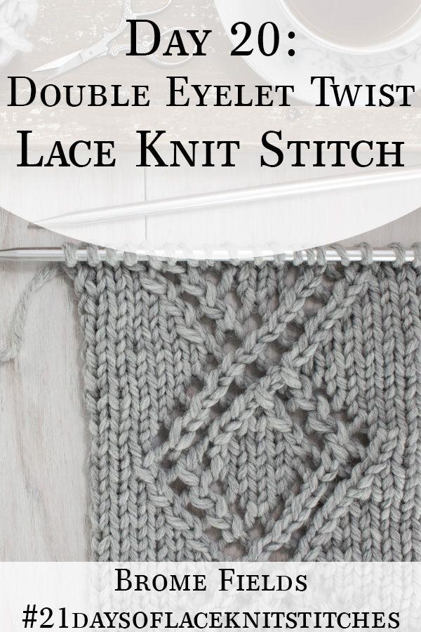 Eyelet Oval Lace Knitting Stitch - Knitting Kingdom
