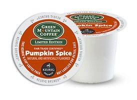 24 K-Cups/Box Green Mountain's Pumpkin Spice coffee offers all the essence of fall in one convenient cup. This gourmet coffee is full of well-rounded flavors such as nutmeg, cinnamon and other autumn-inspired favorites. Experience a delicious coffee which offers both creamy and spiced notes that will remind you of your favorite pumpkin pie with each and every sip. The best part is that this delicious coffee blend comes in K-Cup form for the perfectly-measured cup each and every time.