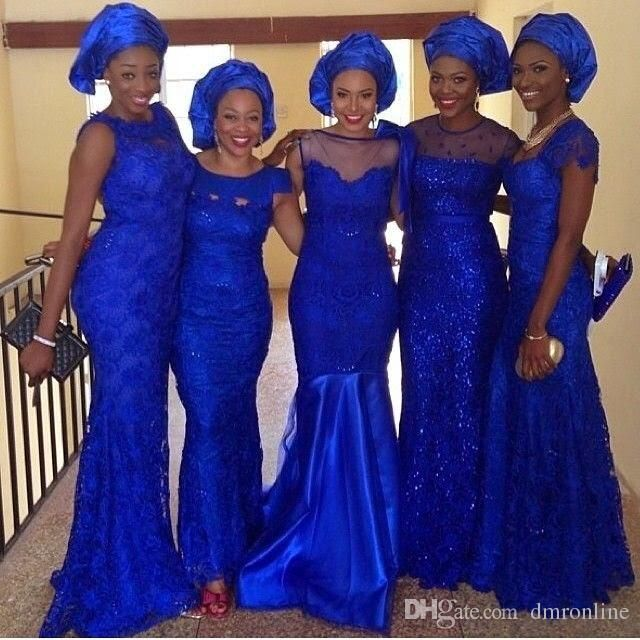 African 2016 Royal Blue Full Lace Bridesmaid Dresses Jewel Neck Cap Sleeve Mermaid Miad Of Honor Gowns Cheap Wedding Guest Dress Bridesmaid Dresses Limerick Bridesmaids Dresses Sale From Dmronline, $114.08| Dhgate.Com