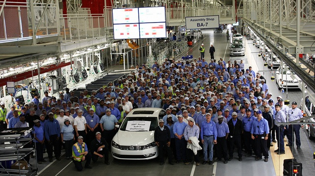 2 milestones at Volkswagen Group of America, Chattanooga Operations-On our way to full production mode, Volkswagen Group of America, Chattanooga Operations just celebrated two huge milestones: The 1,500th employee was hired, and our production team built the 500th VW Passat here at home in America!