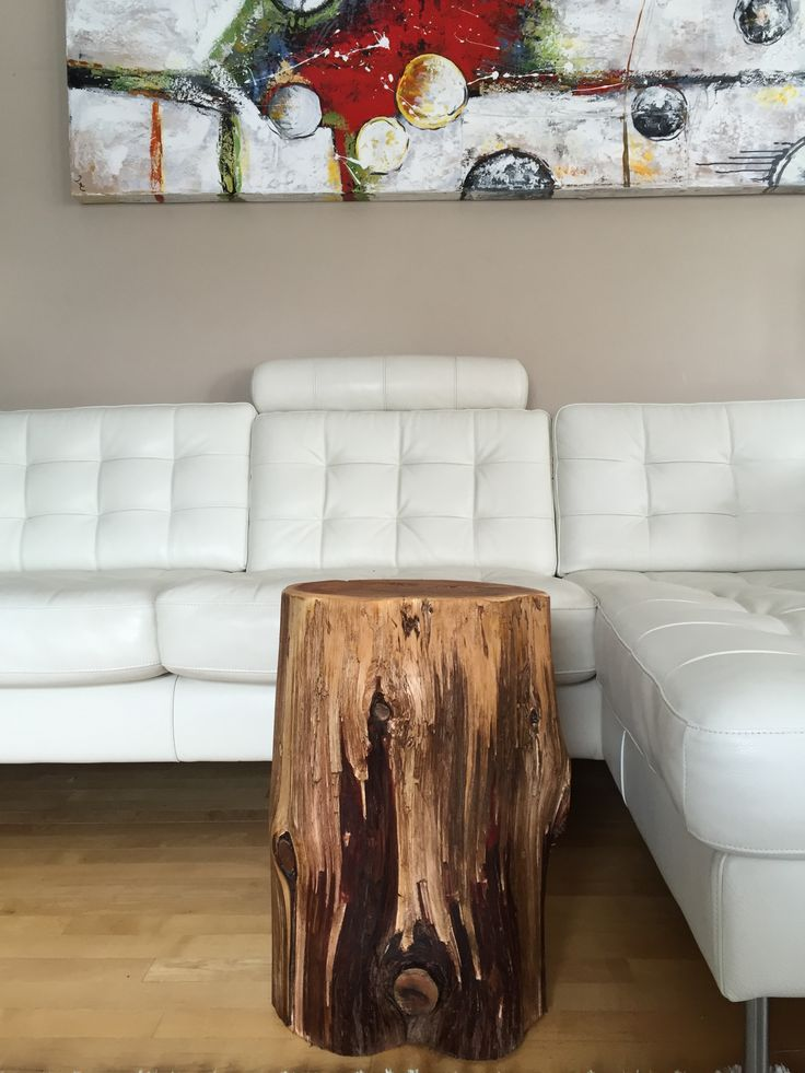 Large Wood Stump Side Tables End Tables Coffee Tables Rustic Furniture Eco