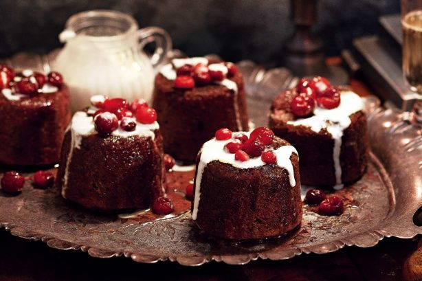 These cranberry and butterscotch puddings are Valli Little's ode to traditional Christmas pudding.
