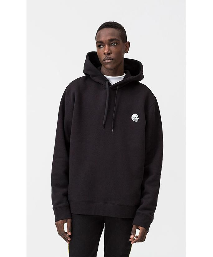 6d41819b7 Cheap Monday Skull Badge Pullover Hood - Black | FRESH OF THE DENIM ...