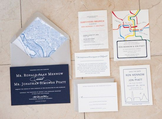 Best wedding invitations dc metro