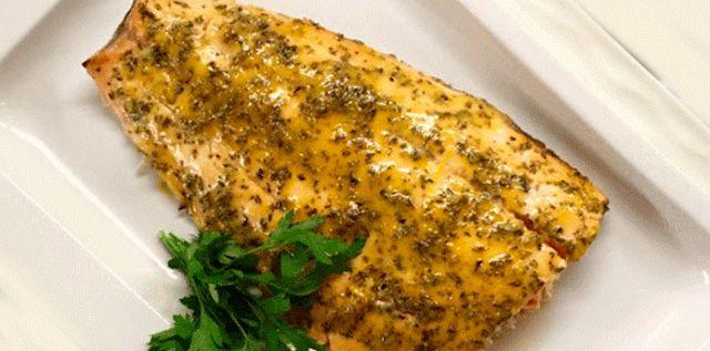 Filete de pescado al horno con mostaza | Recetas fáciles