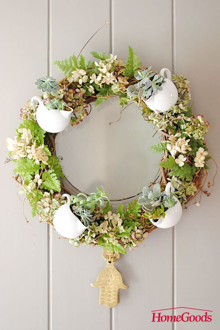 your home than by hanging a spring inspired wreath on your front door