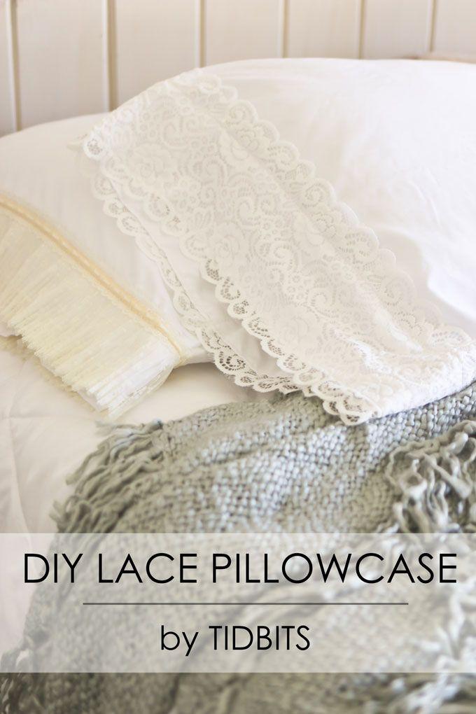 DIY Lace Pillowcase & 107 best pillowcase images on Pinterest | Sewing ideas Cushions ... pillowsntoast.com