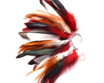 Pluma oído manguito manguito del oído pendientes de la por Njuu