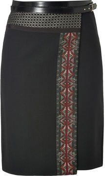 Etro Wool-Alpaca Blend Patchwork Skirt on shopstyle.com