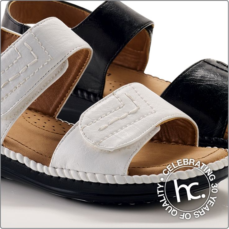 Super comfortable Maude sandals with velcro straps from R49 p/m. Available in sizes: 4 - 9. Colour: white or black.