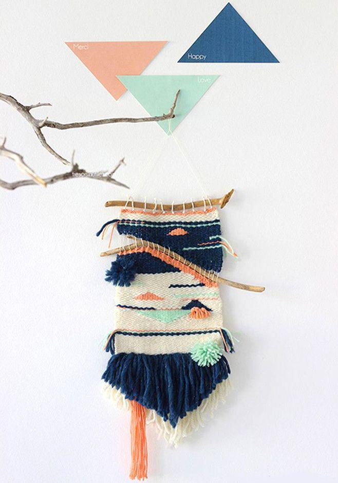 Tejer un telar con palos: planes con niños