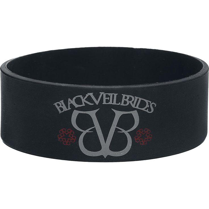 """Bracciale in silicone """"White Logo"""" dei #BlackVeilBrides. l.: 2,4 cm."""