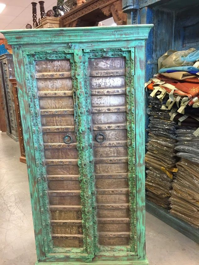 https://www.houzz.com/photos/95618334/Consigned-Antique-Armoire-Brass-Patina-Green-Storage-Cabinet-Moroccan-Furniture-mediterranean-accent-chests-and-cabinets