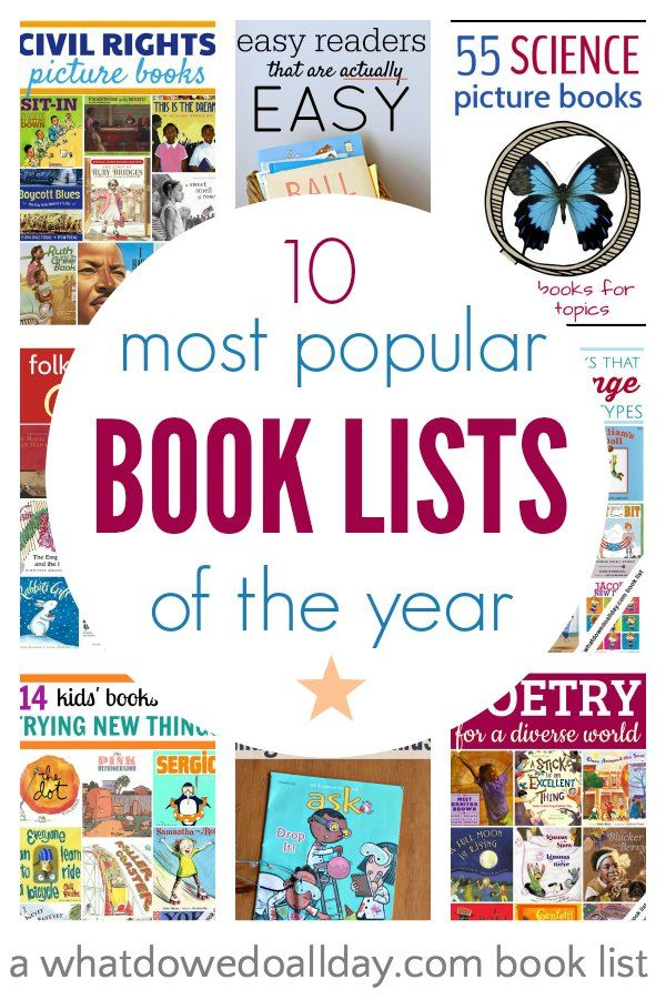 Top picture book lists of the year for kids as chosen by readers! There are books for everyone on these book lists.