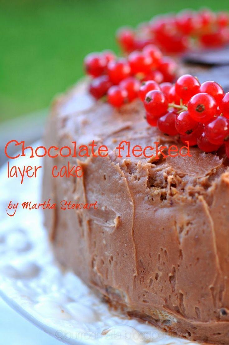 Burro e Malla: Chocolate-flecked layer cake di Martha Stewart