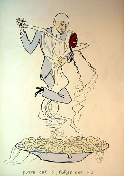 "Georges Goursat (Sem). Caricature of d'Annunzio in the album ""Tangoville sur…"