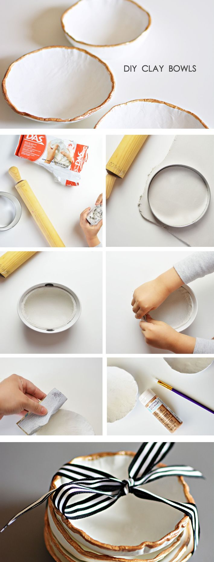 Here's a great project you can do with kids and give a gift people will really treasure. There's nothing like homemade! Clay bowls DIY craft from @aliblog on the SC Johnson blog.