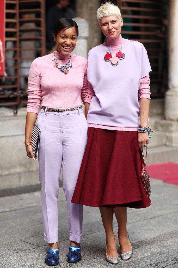 fabulously matchy matchy. #TamuMcPherson & #ElisaNalin in Milan. #ATPB