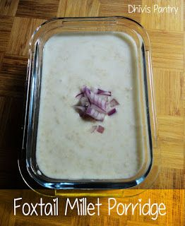 Foxtail Millet Porridge | Thinai Khoozh | Foxtail Millet Curd Rice | Thinai Curd Rice