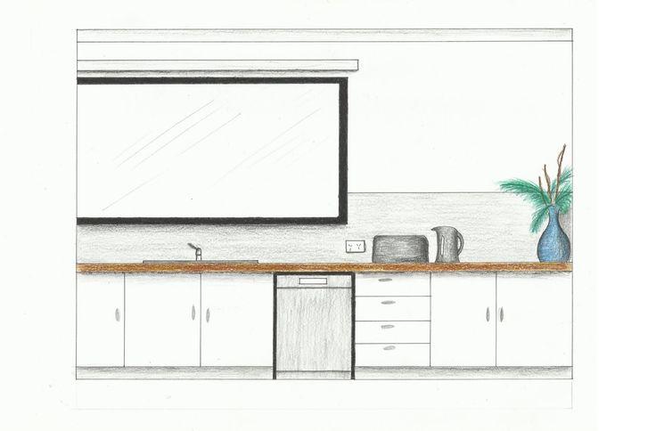 Kitchen Elevation 2 of 2- Rendered