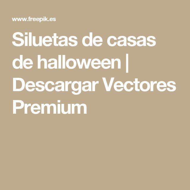 Siluetas de casas de halloween  | Descargar Vectores Premium