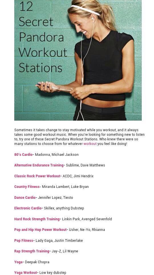 Pandora secret workout stations