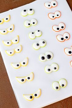 Use stickers to make Spooky Candy Eyes also known as Royal icing transfers or candy decorations. They're helpful tools to use when decorating cookies.