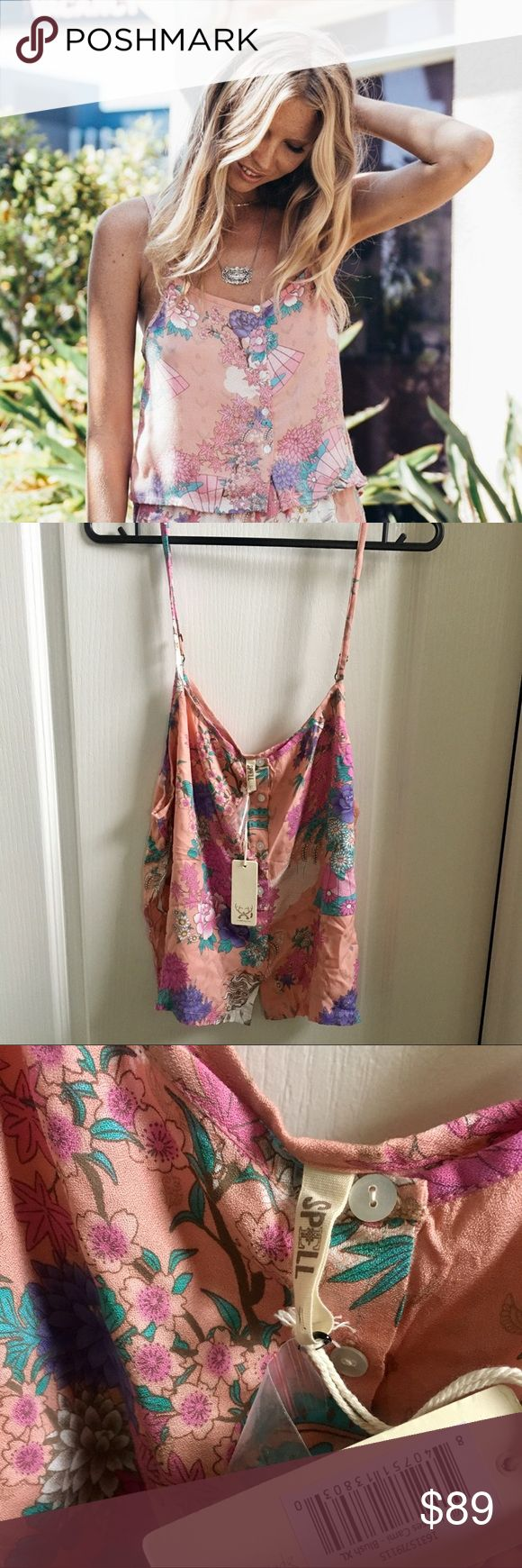 Spell Designs Wild Horses Pink Cami XL Spell Designs Wild Horses Pink Cami XL. Brand new, beautiful print, but sadly too big for me, can also be worn with jeans and a cute cardigan. No trades. Listed elsewhere Spell & The Gypsy Collective Intimates & Sleepwear Pajamas