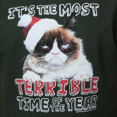 Grumpy Cat Terrible Christmas T-Shirt