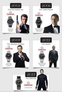 many omega watches of james bond