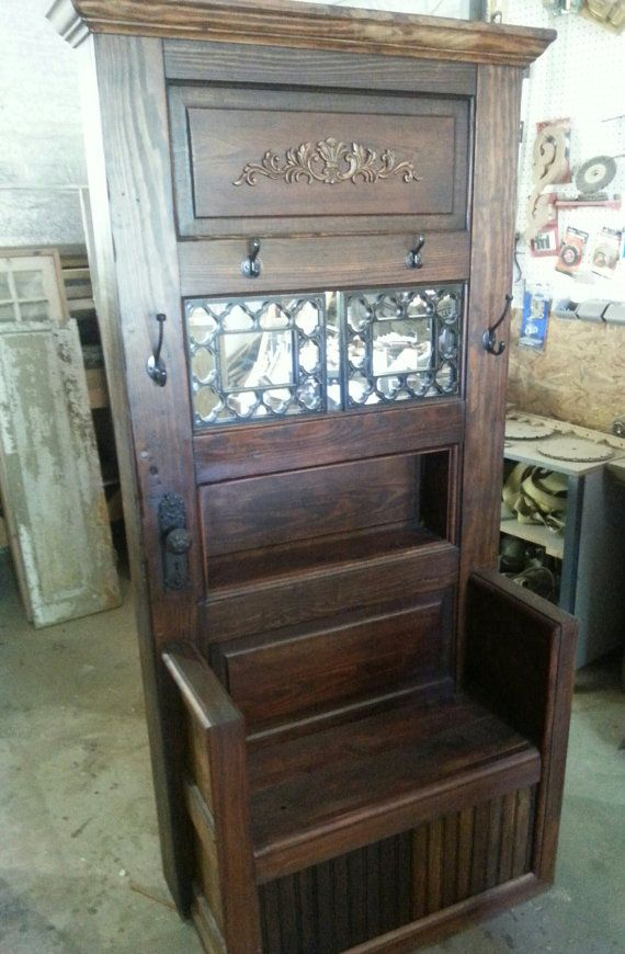 Repurposed Old Door Hall Tree Furniture By Barrettink On Etsy, $600.00