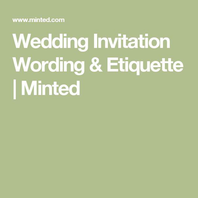 The 25 best Wedding invitation wording etiquette ideas on